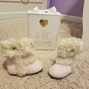 Michael Kors Pink Furry Baby Girl boots